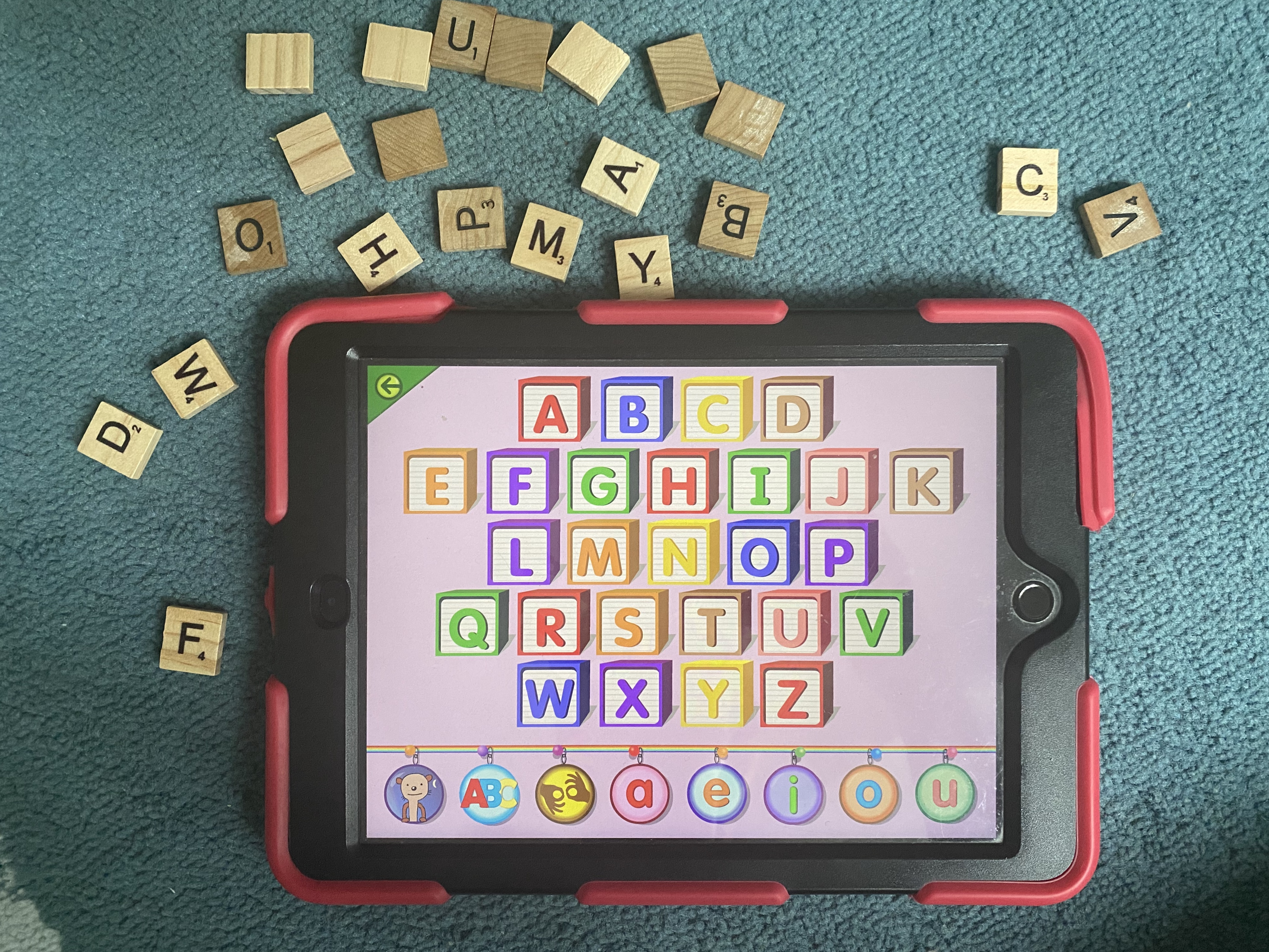 Starfall with scrabble tiles