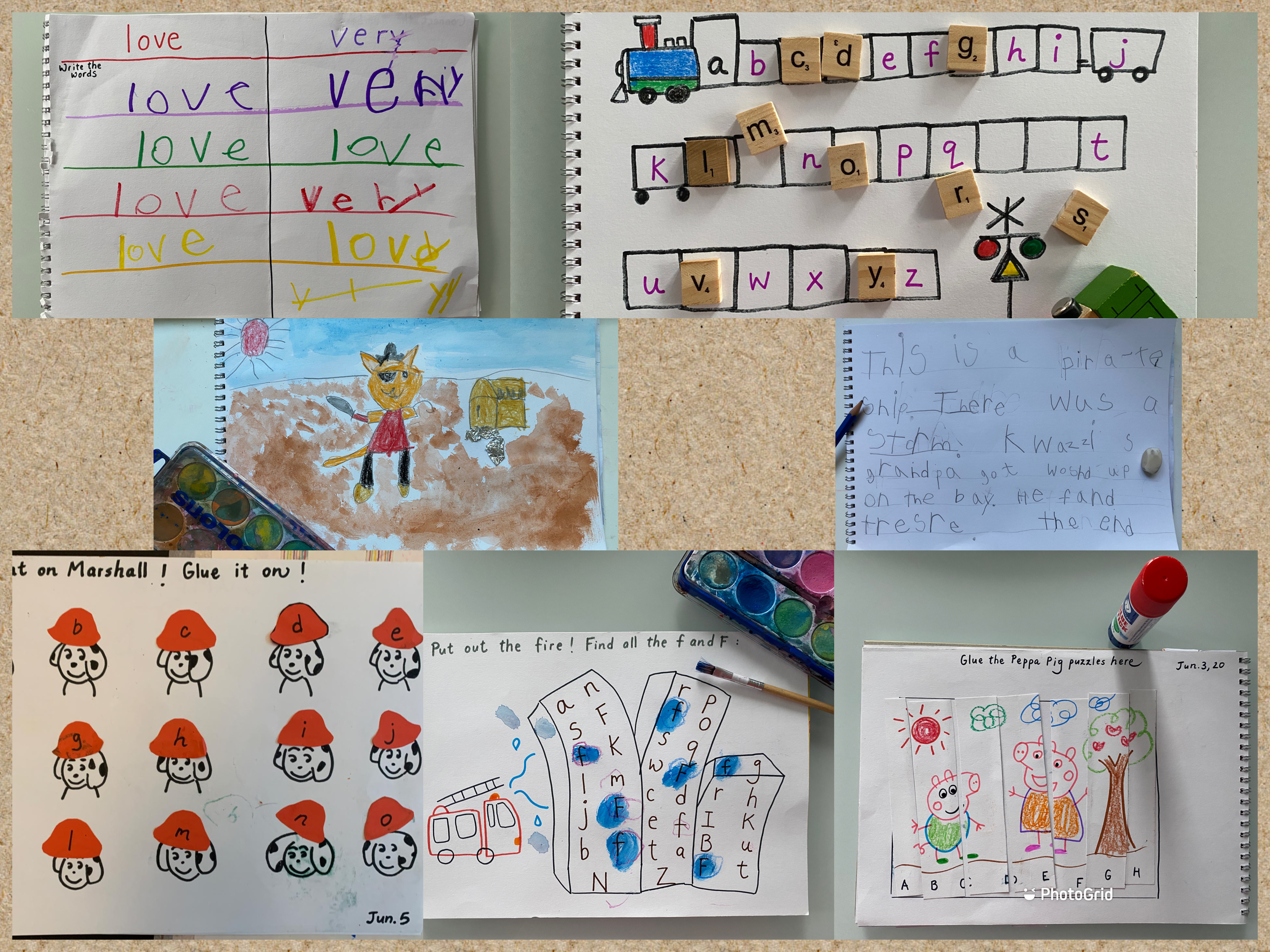 Collage of IG activities